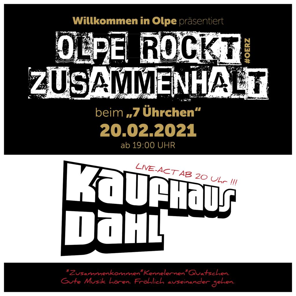 """Olpe rockt Zusammenhalt mit """"Kaufhaus Dahl"""" beim 7Ührchen, dem Olpe Online-Stammtisch"""